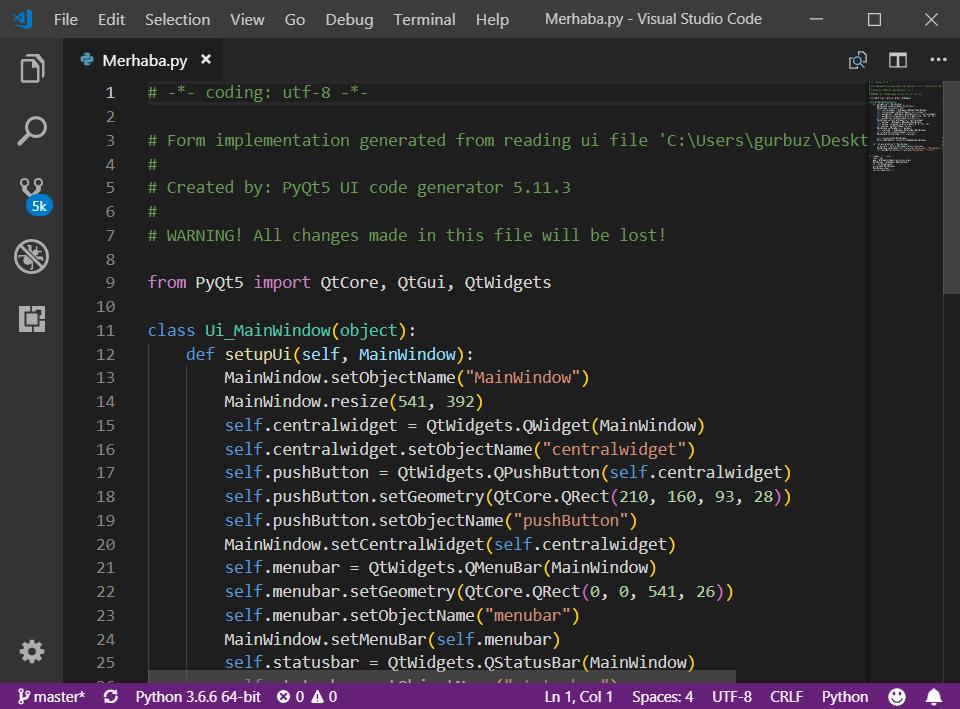 PyQt5 ile Python GUI Kullanımı