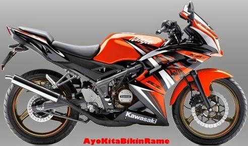Gambar Kawasaki Ninja 150 RR SE Warna Orange