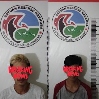 Asyik Konsumsi Sabu, 2 Pemuda Ini Ditangkap Satnarkoba Polres Pelabuhan