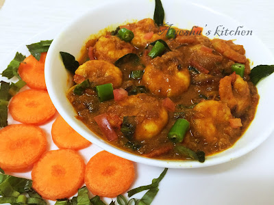 PRAWNS RECIPES - PRAWNS GRAVY IN COCONUT MILK