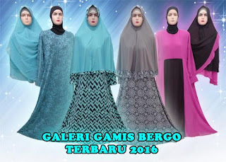 Grosir gamis syar'i murah set jilbab bergo modern dijual online
