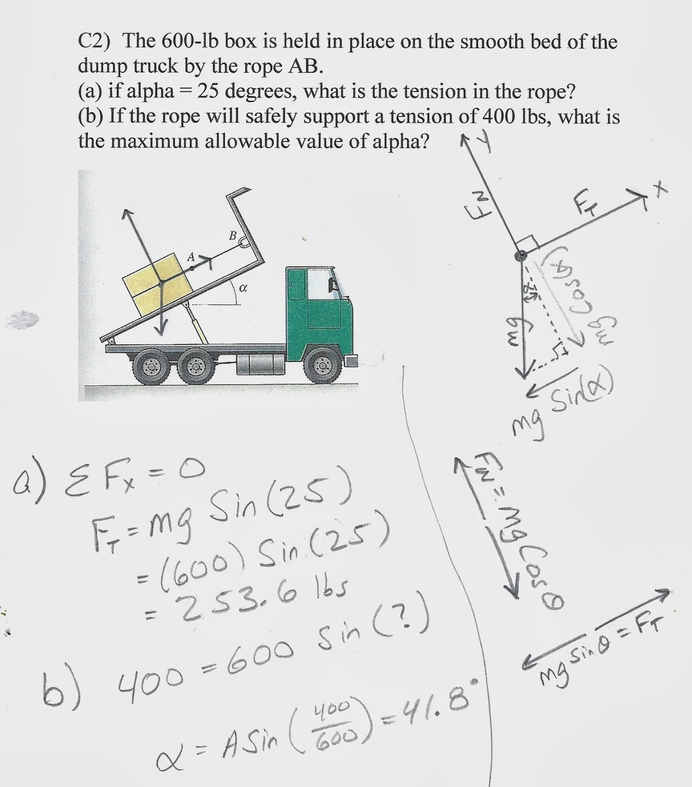 small resolution of engr1201 forces in physics fbd s dump truck box diagram dump truck box diagram