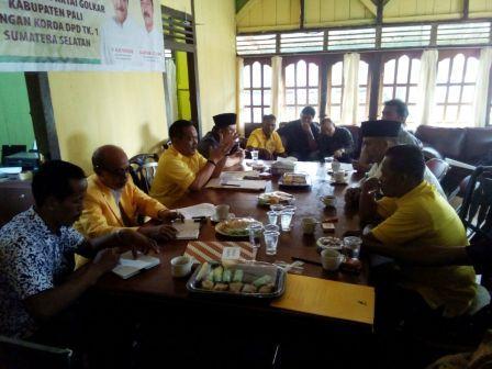 Usai Terima Amar Putusan MP, DPD Golkar PALI Gelar Rapat