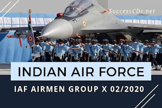 Indian Air Force has given an employment notification for the recruitment of Airmen in Group 'X' Trades (except Education Instructor Trade