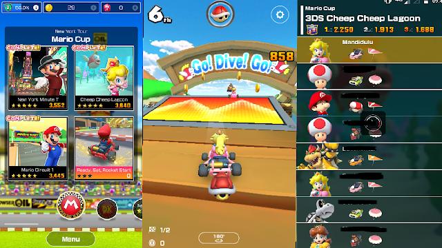 Kira-kira Berapa Total Size Game Mario Kart Tour Di Android