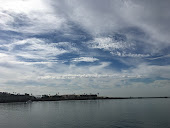Blue skies over Marina del Rey Channel