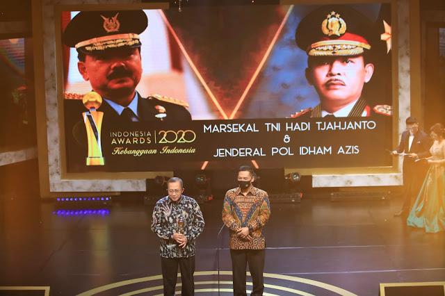 Panglima TNI dan Kapolri Raih Penghargaan Tokoh Publik di Indonesia Awards 2020