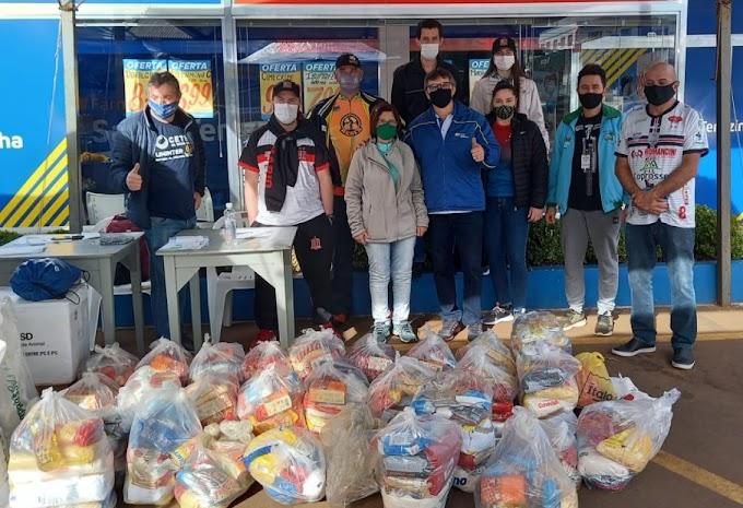 Pedala Paraná solidário arrecada mais de 9 mil quilos de alimentos em Laranjeiras do Sul