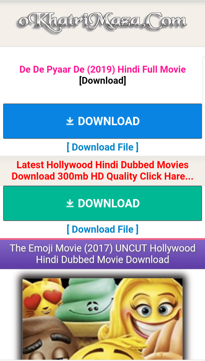 Best Free Bollywood latest Movie Download Sites
