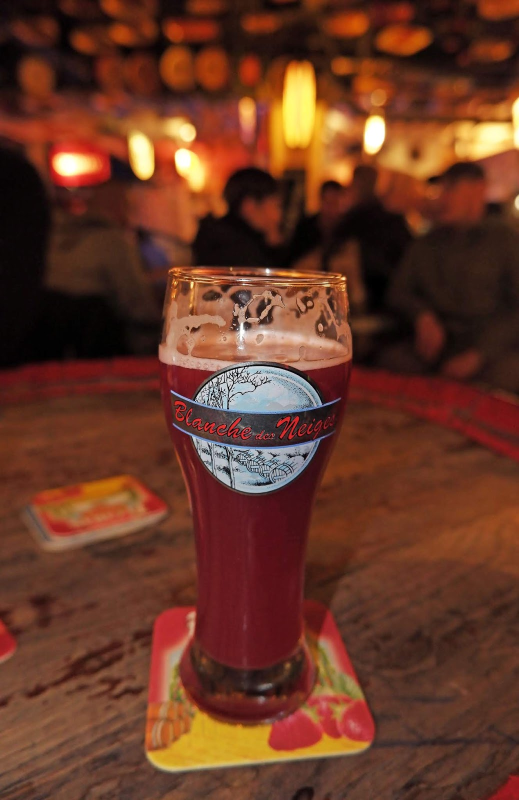 Cherry beer at the Delirium Cafe, Brussels