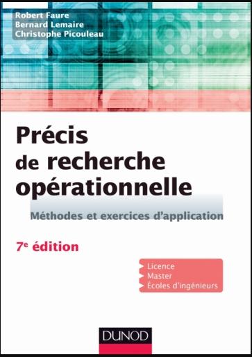 Livre : Précis de recherche opérationnelle - Méthodes et exercices d'application PDF