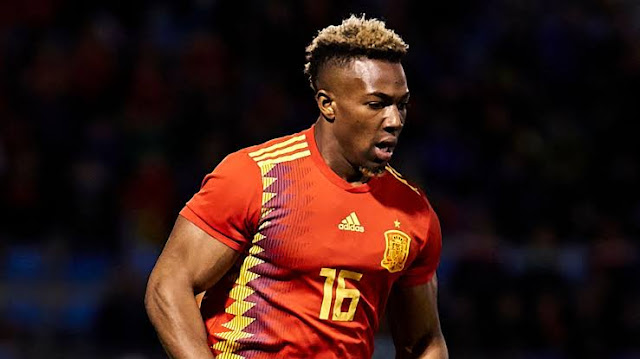 Adama Traore called up to the Spanish national team.