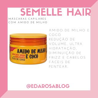 mascara amido de milho cabelo