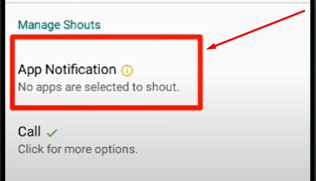 pilih app notification