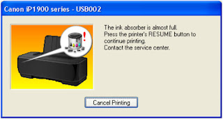 Canon IP 1980 Absorber is Almost Full