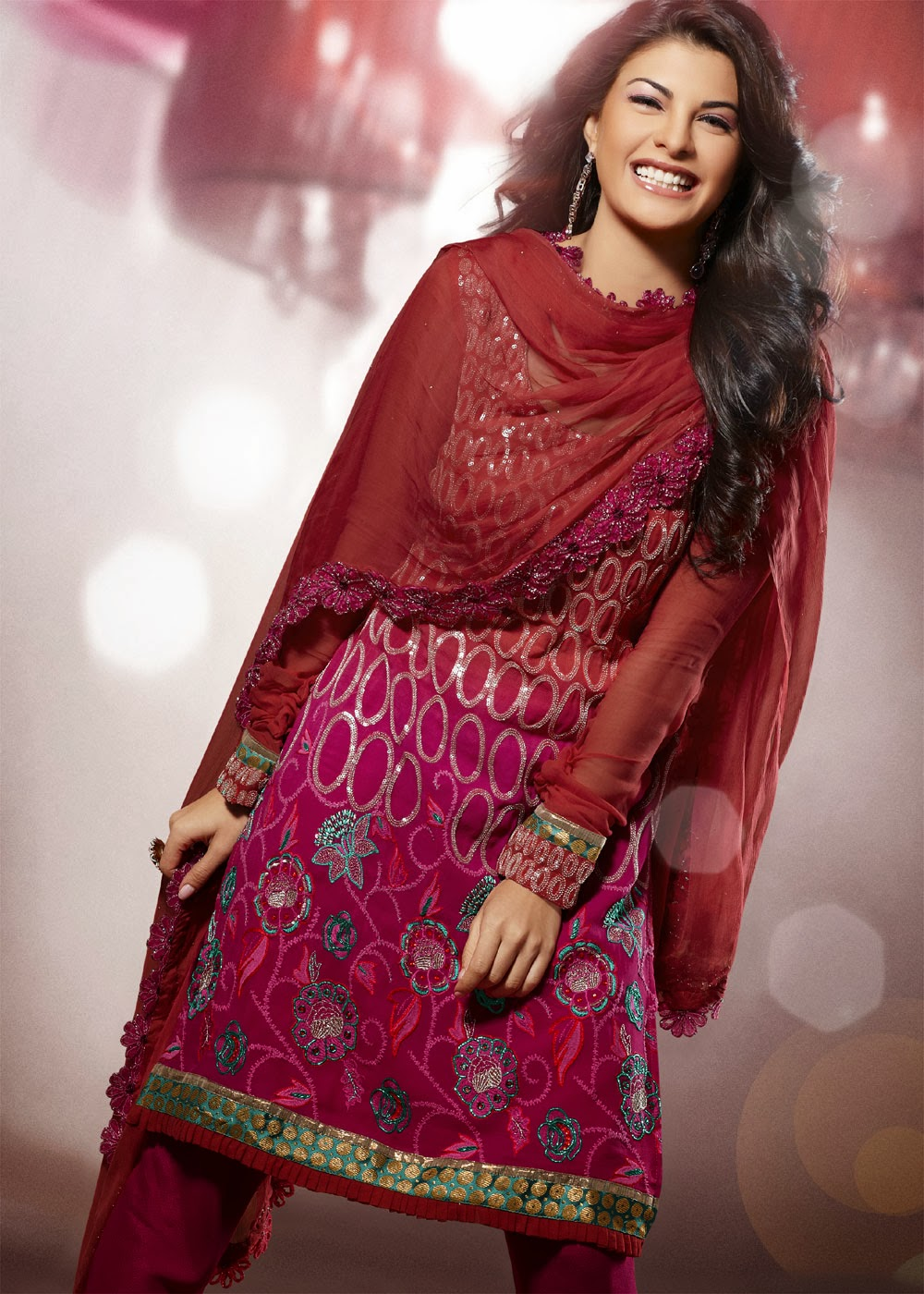 Simple Pakistani Girl Wallpaper Bollywood Upcoming Star Jacqueline Fernandez Salwar