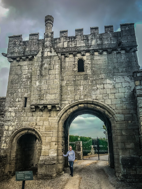 Steeton Hall Gateway - standing inside the gateway