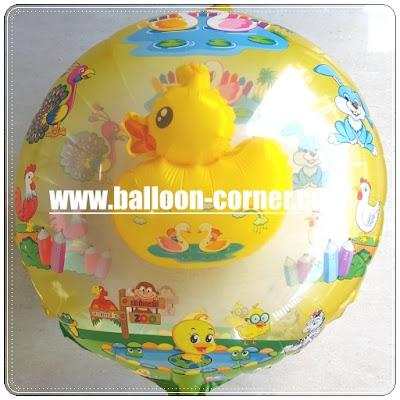 Balon Foil Bebek Kuning 2 in 1