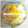 Balon Foil Karakter Bebek Kuning 2 in 1
