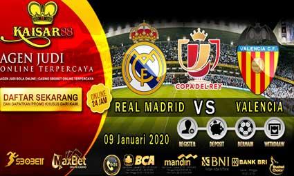 PREDIKSI BOLA TERPERCAYA REAL MADRID VS VALENCIA 09 JANUARI 2020