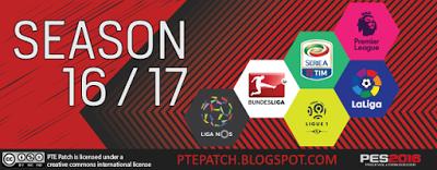 Patch PES 2016 Terbaru dari PTE Patch 6.0 AIO