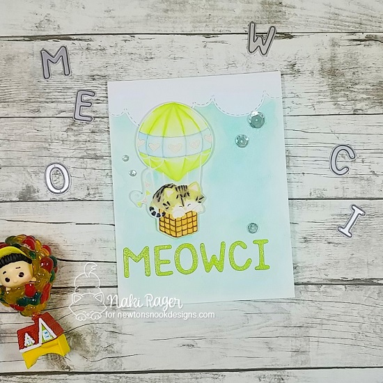 Meowci by Naki features Newton Dreams of Paris, Sky Borders, and Essential Alphabet by Newton's Nook Designs; #newtonsnook