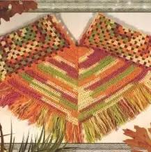 Poncho mañanero a Crochet