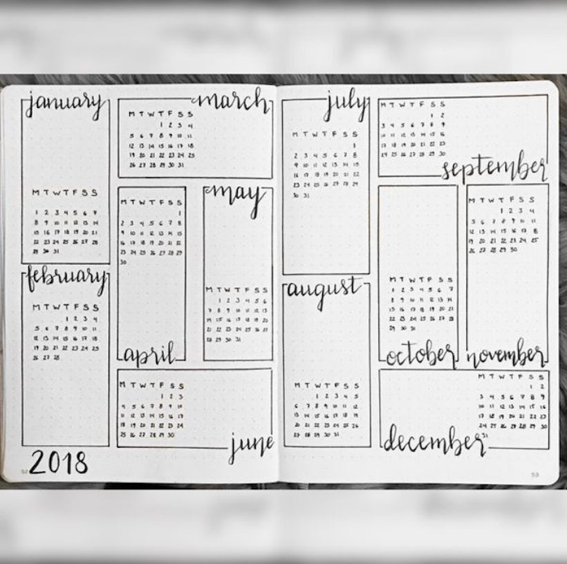 Example of Bullet Journal Future Log 2