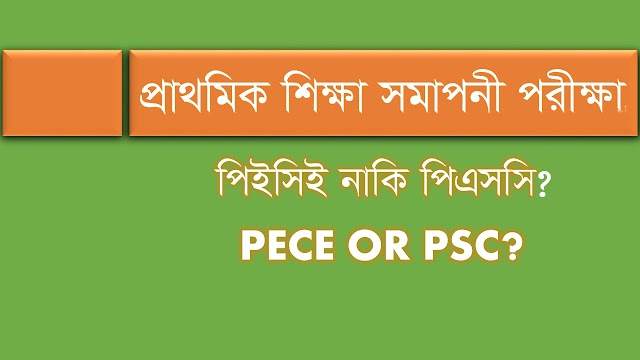প্রাথমিক শিক্ষা সমাপনী পরীক্ষা, পিইসিই নাকি পিএসসি? PECE OR PSC?
