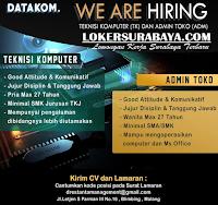 We Are Hiring at Datakom Malang Terbaru Desember 2019