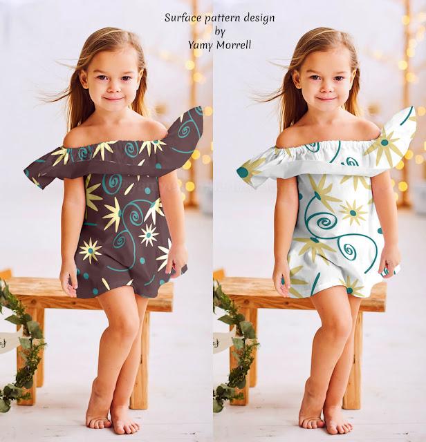 Patron-flores-silvestres-en-vestido-de-niña