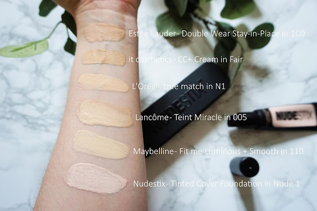 Review Nudestix - Tinted Cover Foundation Swatches