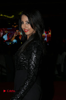 Actress Sanjana Pictures in Black Dress at Happy Birthday Audio Launch  0020.JPG