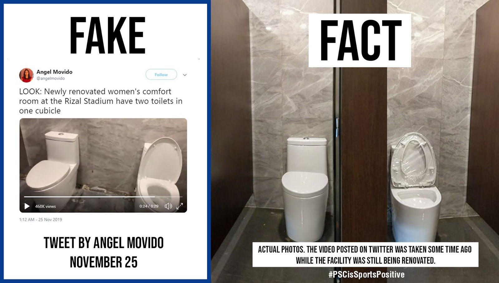 Toilet war? PSC calls out ABS-CBN reporter over viral tweet of toilet at Rizal Stadium