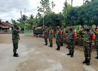 Pelihara Disiplin Prajurit, Anggota Posramil 12/Panton Reu Laksanakan Apel Pagi