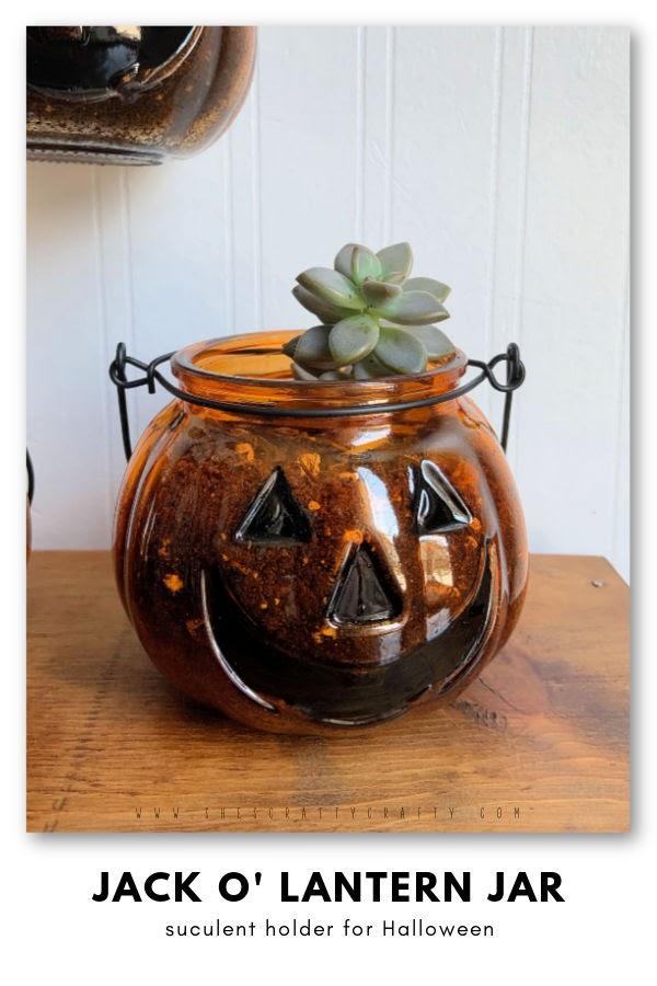 Jack o Lantern Succulent Planter DIY