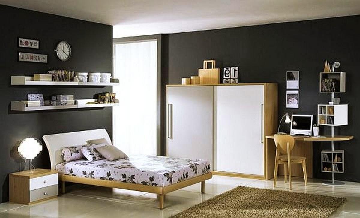 kamar tidur remaja laki laki sederhana   interior rumah