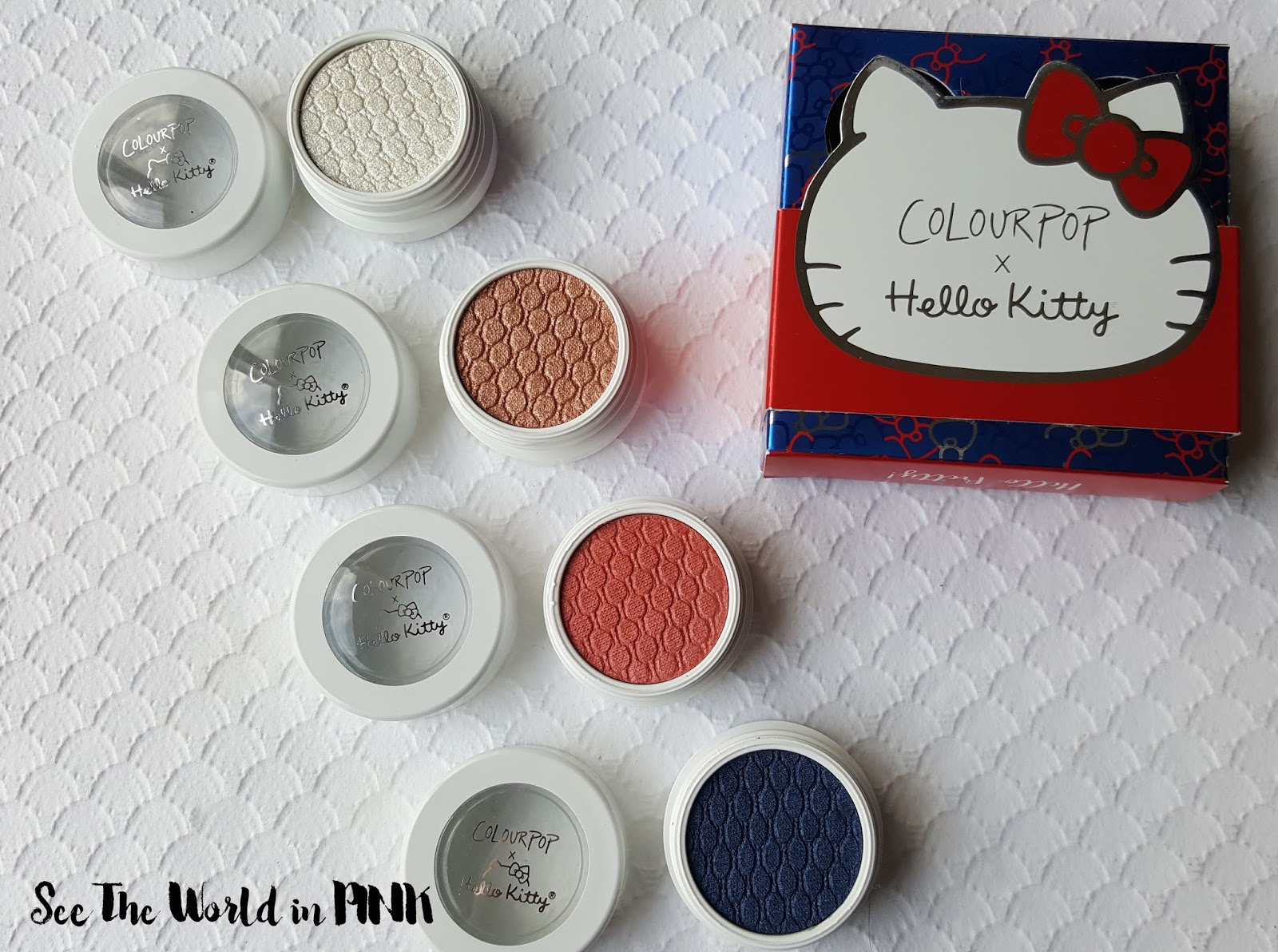 Colourpop Hello Kitty Collection - Review, Swatches and a Makeup Look!