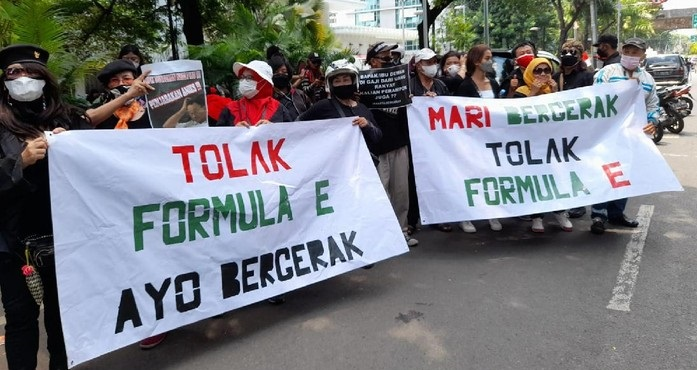 Sebut Ada Kekerasan Aparat di Aksi Tolak Formula E, Jakarta Bergerak: Kami Digebukin dan Diinjak Aparat