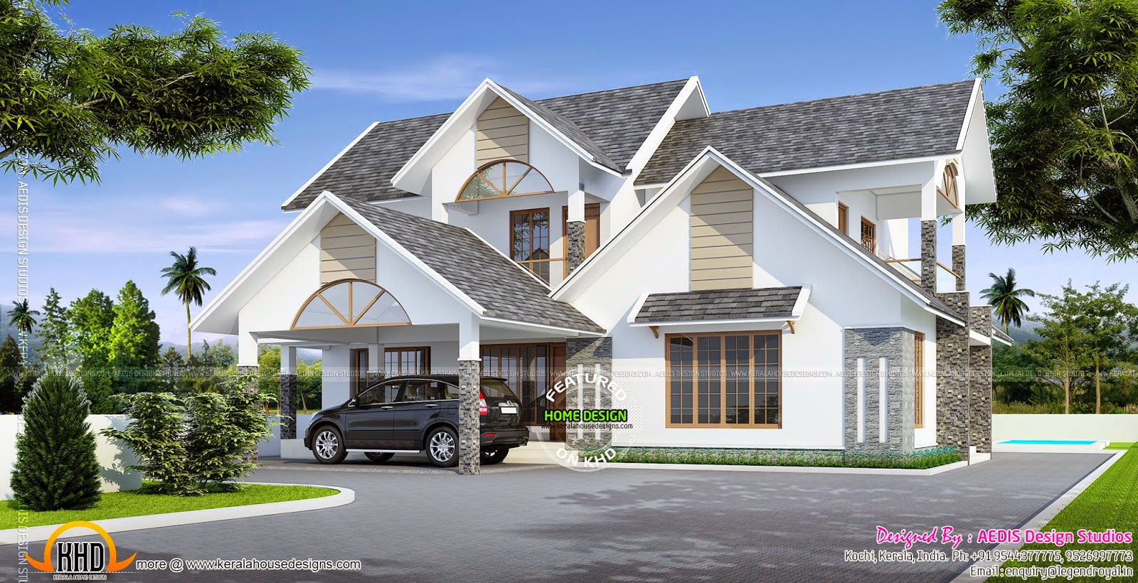 August 2014 kerala home design and floor plans for Roof plans for house