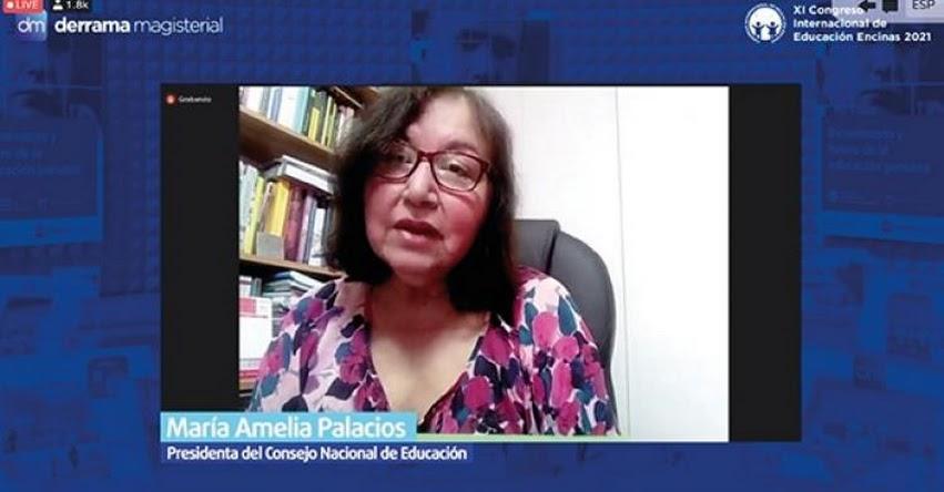 CNE: Presidenta del Consejo Nacional de Educación participó en el XI Congreso Internacional de Educación Encinas 2021