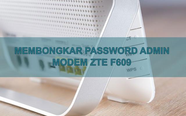 Mengetahui Password Administrator modem