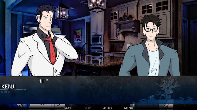 Kenji and Daichi having a conversation in the kitchen