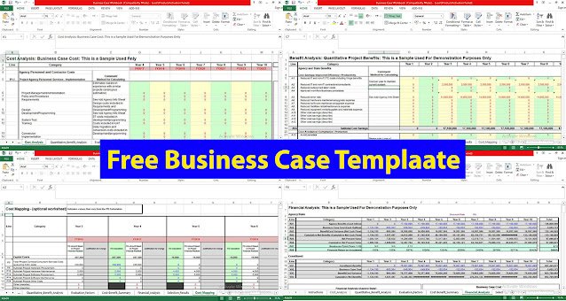 Free Business Case Template in excel