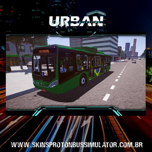 Skin Proton Bus Simulator - Caio Millenium IV BYD Infraero BSB