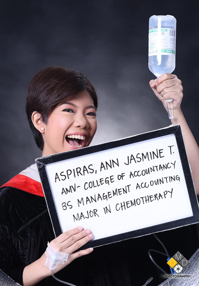 Graduate shares inspiring story, jokes about being 'Major in Chemotherapy'