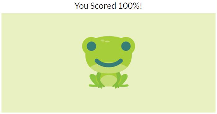 Quiz Diva Spot The Frog Answers. Score 100%