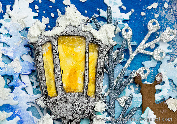 Layers of ink - Narnia December Daily Journal by Anna-Karin Evaldsson, with Sizzix Christmas dies by Tim Holtz