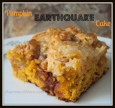 Pumpkin Earthquake Cake; Flour Me With Love