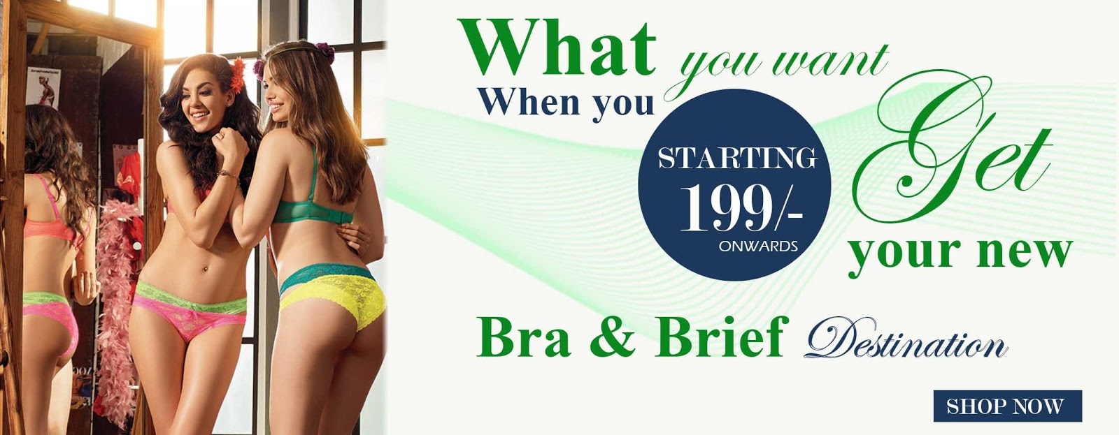 Online lingerie collection in India at Fabsdeal.